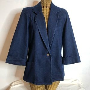 "Koret ""City Blues"" Blazer Jean Jacket"